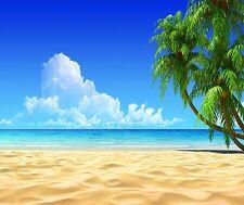 BEACH OCEAN PALM TREE TROPICAL MOUSE PAD  9 X 7