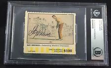 SIGNED GAY BREWER 1968 AMERICAN OIL CARD MASTERS ROOKIE RC AUTO BECKETT BAS BGS