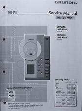 GRUNDIG Service-Manual für HiFi Micro-Syyteme UMS 4100, UMS 4101