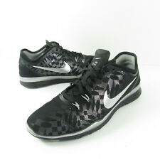 NIKE FREE TR FIT 5 RUNNING Women's Sz 8.5 806277-001 BLACK SILVER Training Shoes