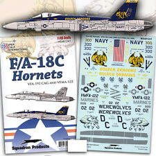 F/A-18 C Hornet: VFA-192, VFMA-122 (1/48 decals, Superscale 481241)