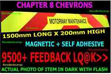 MAGNETIC  CHAPTER 8 REFLECTIVE CHEVRONS VAN CAR PICKUP MOTORWAY MAINTENANCE SIGN