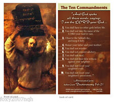 The Ten Commandments Prayer Card And God Spoke All These Words I Am The Lord