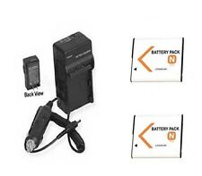 TWO 2X Batteries + Charger for Sony DSC-T99D DSC-T99P DSC-TX5 DSC-TX20 DSC-W620