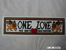 ONE LOVE ONE EARTH ONE SURVIVAL BUMPER STICKER