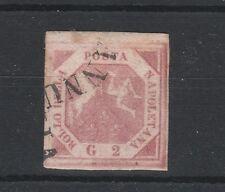 FRANCOBOLLI 1858 NAPOLI 2 GR. ROSA LILLACEO D/4510