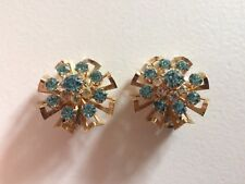 CORO* Fabulous Tiered Rhinestone Clip On Earrings