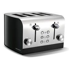 Morphy Richards Equip 1700W 4 Slice Tostapane elettrico ampio slot 7 impostazioni Nero