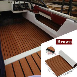 Marine nonskid EVA Foam Sheet decking teak Flooring Brown 2400x450x6mm Universal
