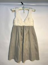 Witchery Dress Mushroom beige empire waist sz 8 sil / viscose
