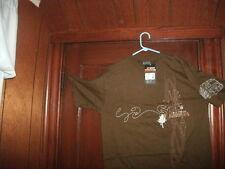 hockey t-shirt short sleeve brown I'VE GOT DANGLITIS size large  NWT in BAG