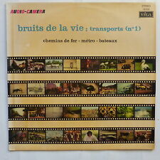 Audio camera Bruits de la vie Transports 1 Bruitages 19035 TRAIN METRO BATEAUX