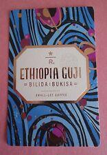 STARBUCKS 2015 - Series Reserve Tasting Card ETHIOPIA GUJI - NEW