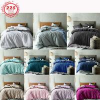 3 Pce 225tc Linen Cotton Quilt Cover Set by Accessorize - QUEEN KING Super King