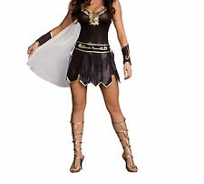Sexy Warrior Gladiator Fancy Dress Gold Trim Headband Armbands