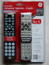 GE 10849 Big Button Universal Remote Lighted TV Control - Pack of 2