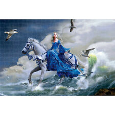 Wooden Jigsaw Puzzles 1000 PCS Pure Ideal White Horse and Beauty Painting Decors