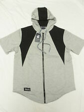 $44 NWT Mens Rocawear Contrast Quilted Zip Hoodie T-Shirt Tee Grey Size XL N226