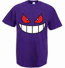 Gengar Face Pokemon Tv Show Catch Em All Poke Tee Shirt Top (UNISEX T SHIRT)