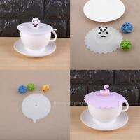 Silicone Cartoon Glass Cup Cover Coffee Mug Suction Anti-Dust Seal Lid Caps