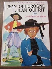 La Comtesse de Ségur: Jean qui grogne et Jean qui rit/ Bibliothèque Rose, 1979
