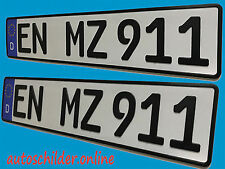 KFZ Kennzeichen /  Autoschilder / Nummernschilder 520 x 110 mm EXPRESS Versand