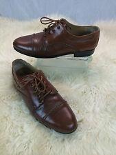 * Adolfo * Oxford Cap Toe Brown Shoes Sz 8.5 US 8 GB 42 EUR NICE