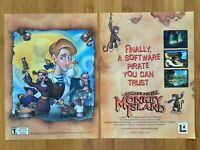 Escape from Monkey Island PC PS2 2000 Vintage 2-Page Poster Ad Print Art Rare
