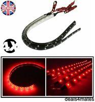 4 Pcs New 30Cm 3528 Led Flexible Strip Red Light Car Lamp Waterproof 12v