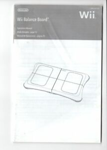 Wii Fit Balance Board MANUAL Nintendo Wii INSERT ONLY Authentic