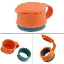 Plastic Orange Food Kitchen Storage Preserve Sealing Bag Cap Househould N