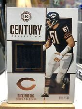 2019 ENCASED CENTURY COLLECTION GAME WORN PATCH DICK BUTKUS SP! 08/50!