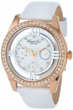 Genuine Leather Strap Women's Silver Case Wristwatches