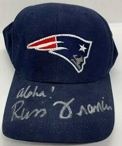 Russ Francis Autographed New England Patriots Baseball Hat W/ Aloha Inscription