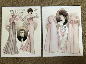 Jacqueline Kennedy First Lady Paper Doll by Donald Hendricks, Signed, Uncut