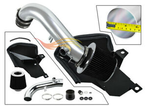 BCP BLACK For 2015-2020 VW Golf GTi R 1.8T 2.0T Cold Air Intake +Heat Shield