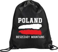 BACKPACK BAG BIESZCZADY MOUNTAINS POLAND GYM HANDBAG FLAG SPORT