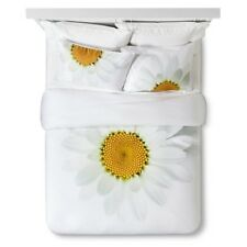 STILL by Mary Jo Hoffman Daisy Print 2 PIECES Duvet Set - TWIN - Yellow / White