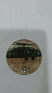 2nd Print, 2L25 Huey Helicopter , 25 Cents AAFES Pog Extra Fine to AU MPC s