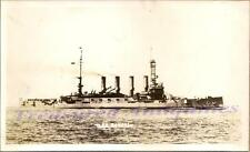 1920s US Navy USS Seattle ACR-11/CA-11 Cruiser Ship Starboard Broadside Photo