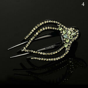 Large Alligator Clip Crystal Rhinestone Flower Hair Claw Clamp Hairpin for Women