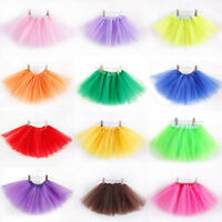 Kids Girls Tutu Bubble Skirt Ballet Dance Elastic Dress Costume Dancewear 2-8Y
