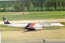 Flying Tigers Douglas DC8-73CF N-4869T at Zurich 1987 Postcard