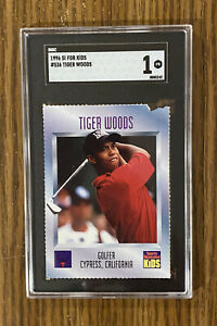 1996 Sports Illustrated SI For Kids Golf~ TIGER WOODS Rookie SGC 1 🔥 ⛳️ 🔥