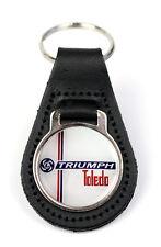 Triumph Toledo Leyland Logo Quality Black Leather Keyring