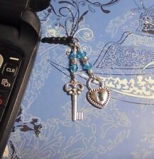Lock~N~Key Cell Phone Charm~Dust Plug Cover~All Phones~Free Ship