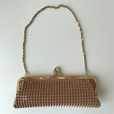 Christian Louboutin Chain Clutch Spiked Beige Patent Shoulder Bag