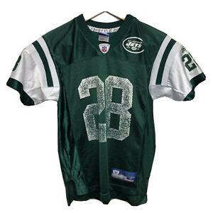 Reebok Football Jersey Youth M 10-12 Green New York Jets #28 Curtis Martin NFL