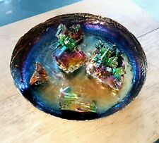 🎁Gift Set🎁 14cm Iridescent Rainbow Trinket Large Dish and Crystals set