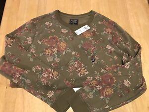 Men's Abercrombie & Fitch Floral Crewneck Sweatshirt - XL